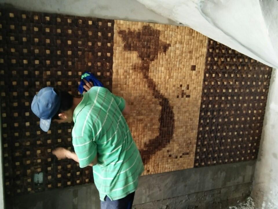 Gáo dừa ốp lát tường-sản phẩm mới của Bến Tre