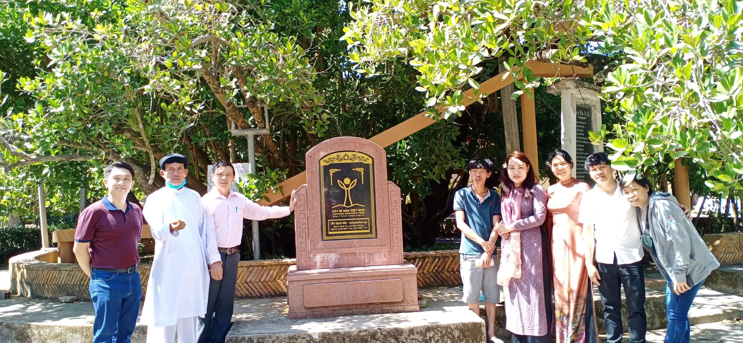 Tinh thần làm việc khoa học vì cây di sản Việt Nam đầu tiên ở Bến Tre –bạch mai cổ thụ