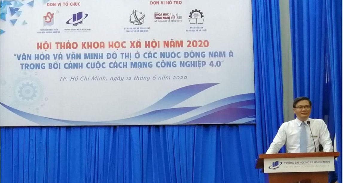 """Hội thảo """"văn hóa và văn minh đô thị ở các nước Đông Nam Á trong bối cảnh cuộc cách mạng 4.0"""" và bài học cho di sản văn hóa Bến Tre"""