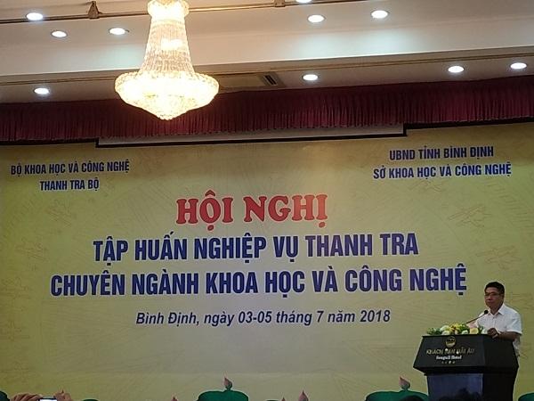 Tham dự Hội nghị tập huấn nghiệp vụ thanh tra chuyên ngành khoa học và công nghệ năm 2018