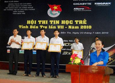 Có 124 thí sinh dự thi hội thi tin học trẻ tỉnh Bến Tre lần thứ VII-2010