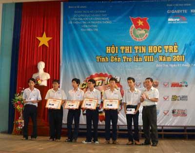 Có 3 giải nhất, 6 giải nhì và 7 giải ba trong hội thi tin học trẻ tỉnh Bến Tre lần thứ VIII-2011