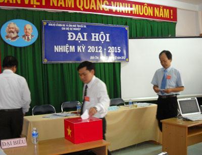 Chi bộ Sự nghiệp đại hội nhiệm kỳ 2012-2015 thành công tốt đẹp