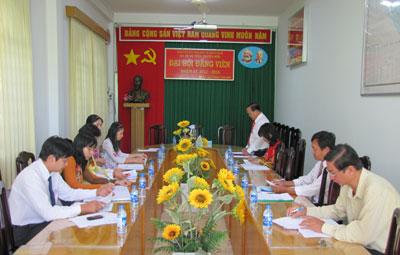 Đại Hội chi bộ Bộ phận chuyên môn nhiệm kỳ 2012-2015