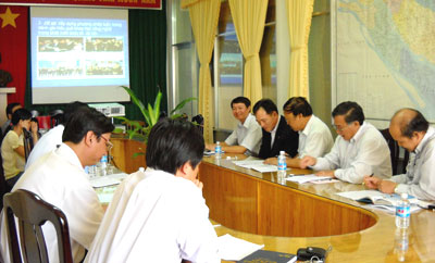 Viện Khoa học và công nghệ Việt Nam làm việc tại Bến Tre