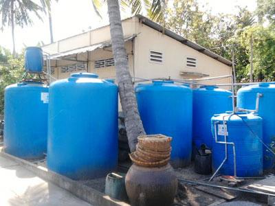 Quy trình công nghệ xử lý nước thải sản xuất kẹo dừa bằng bồn composite
