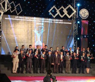 Hai doanh nghiệp Bến Tre đạt Giải thưởng Chất lượng Quốc gia năm 2013