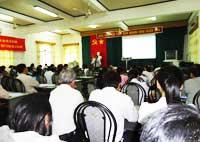 """Tập huấn """"Đánh giá nội bộ Hệ thống quản lý chất lượng TCVN ISO 9001:2008"""" cho hơn 60 cán bộ"""