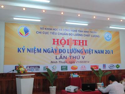 """Tham dự  """"Hội thi kỷ niệm ngày Đo lường Việt Nam 20/01 lần V"""" tại Ninh Thuận"""